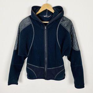 Adidas By Stella McCartney Black Fleece Zip Up S